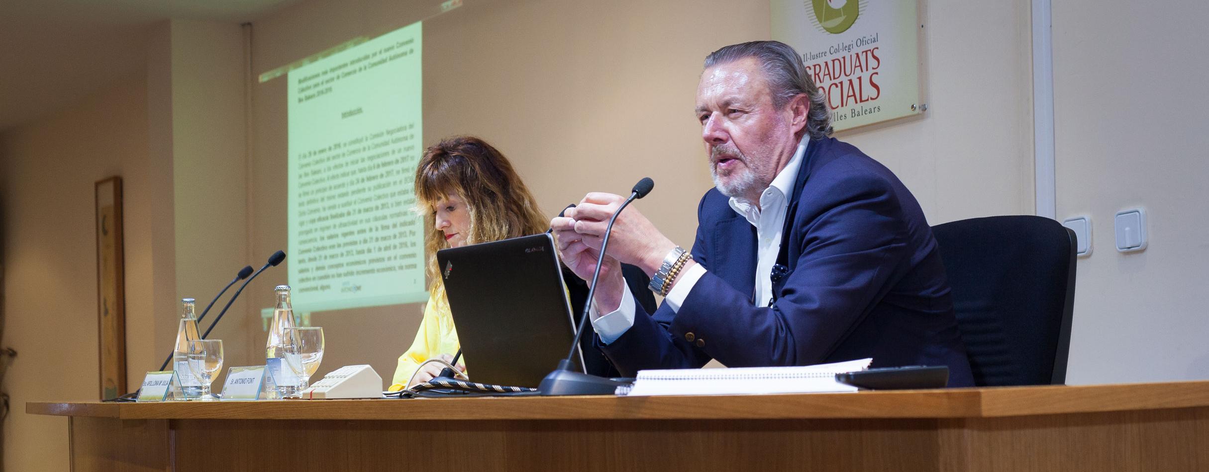 Antonio Font, ponente en el foro sobre el Convenio Colectivo de Comercio de las Illes Balears