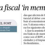 artículo sobre amnistía fiscal por Miguel Font