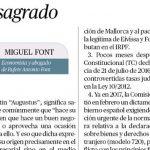 """Miguel Font habla sobre el """"Mes sagrado"""" para los abogados en El Económico"""