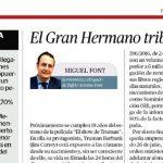 """""""El Gran Hermano tributario"""", un nuevo artículo de Miguel Font para El Económico"""