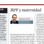 Bufete Antonio Font IRPF y maternidad