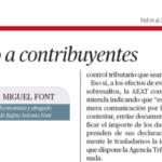Aviso a contribuyentes por Bufete Antonio Font